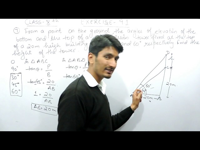 Chapter 9 Exercise 9.1 Q 7 - Some Applications of Trigonometry Class 10 maths - NCERT Solutions