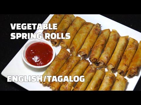 How To Make Spring Rolls - Vegetable Spring Rolls - Youtube