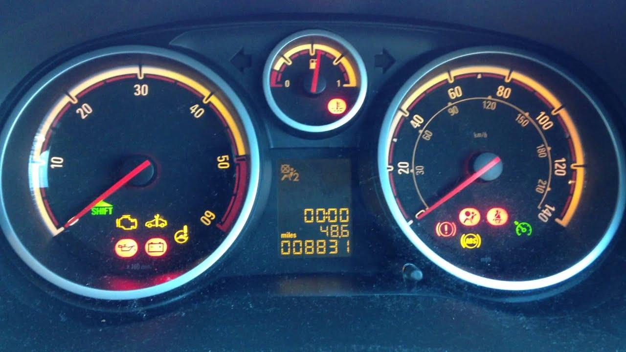 Vauxhall Opel Corsa D Engine Start Warning Lights
