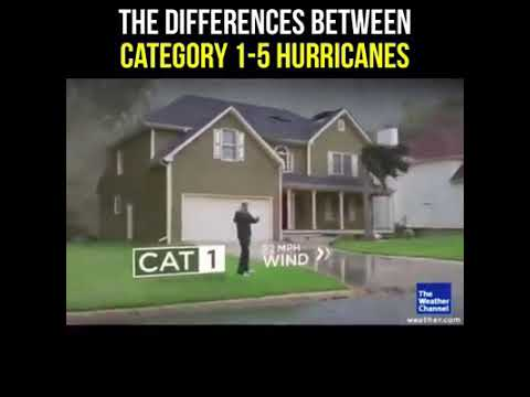 Watch the difference in damage between hurricane categories 😯     (The Weather Channel)