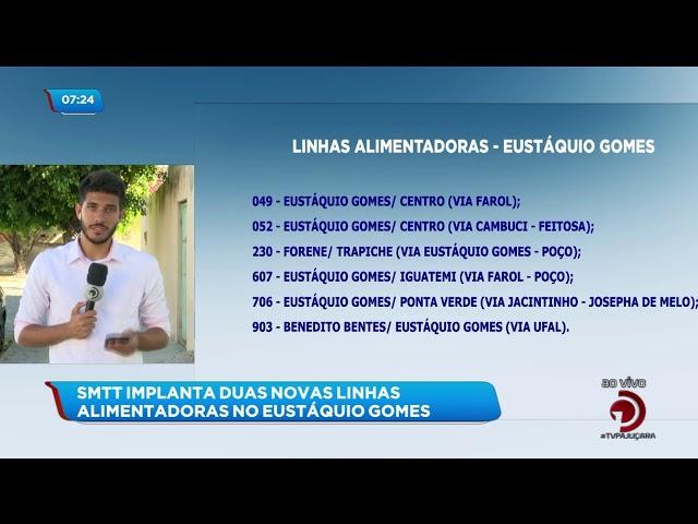 SMTT implanta novas linhas alimentadoras no Eustáquio Gomes