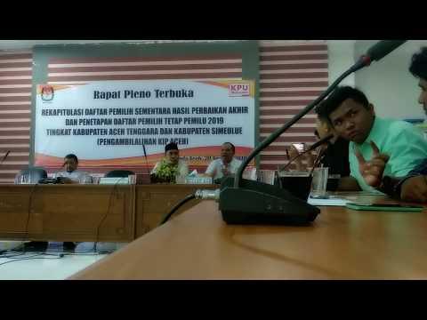 Viral Pernyataan Sikap  KIP Aceh Di Pileg Dan Pilpres 2019
