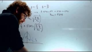 Intervalo de confianza para la proporcion Matemticas 2º Bachilllerato Academia Usero Estepona