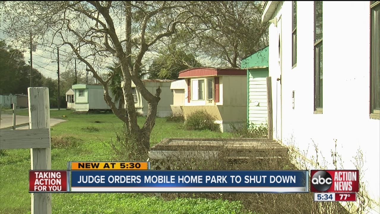Judge Orders Mulberry Mobile Home Park To Shut Down Residents