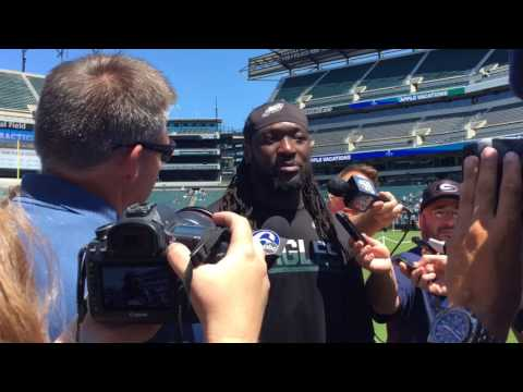Philadelphia Eagles running back LeGarrette Blount discusses first camp with team