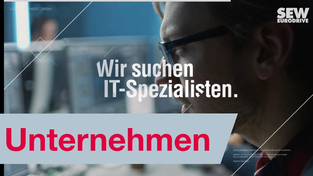 It Spezialisten Gesucht Recruiting Sew Eurodrive Youtube