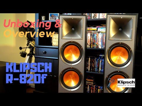 NEW!. Klipsch Reference R-820F Tower Speakers - Unboxing, Setup and Overview