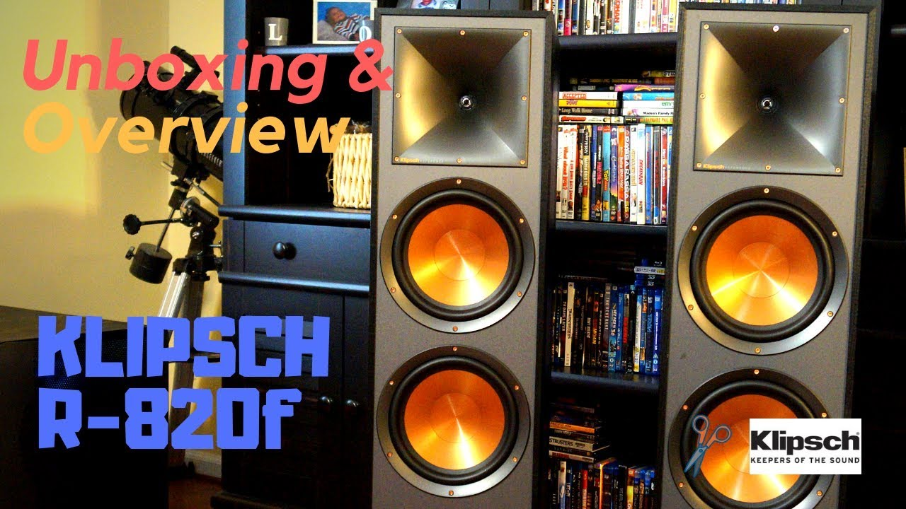 NEW!  Klipsch Reference R-820F Tower Speakers - Unboxing, Setup and Overview