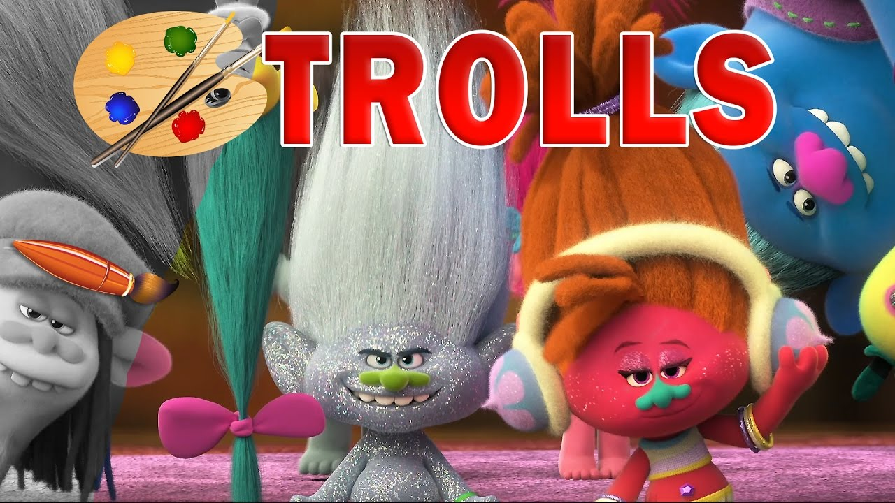 Trolls Movie 2016 Kids Coloring
