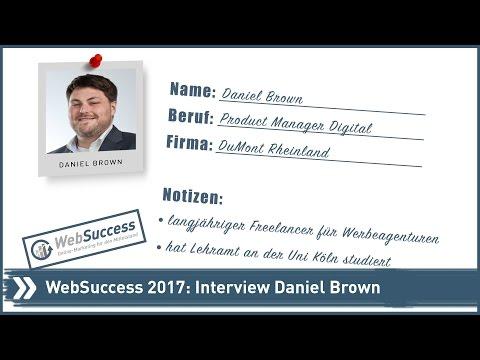 WebSuccess 2017: Daniel Brown im Interview
