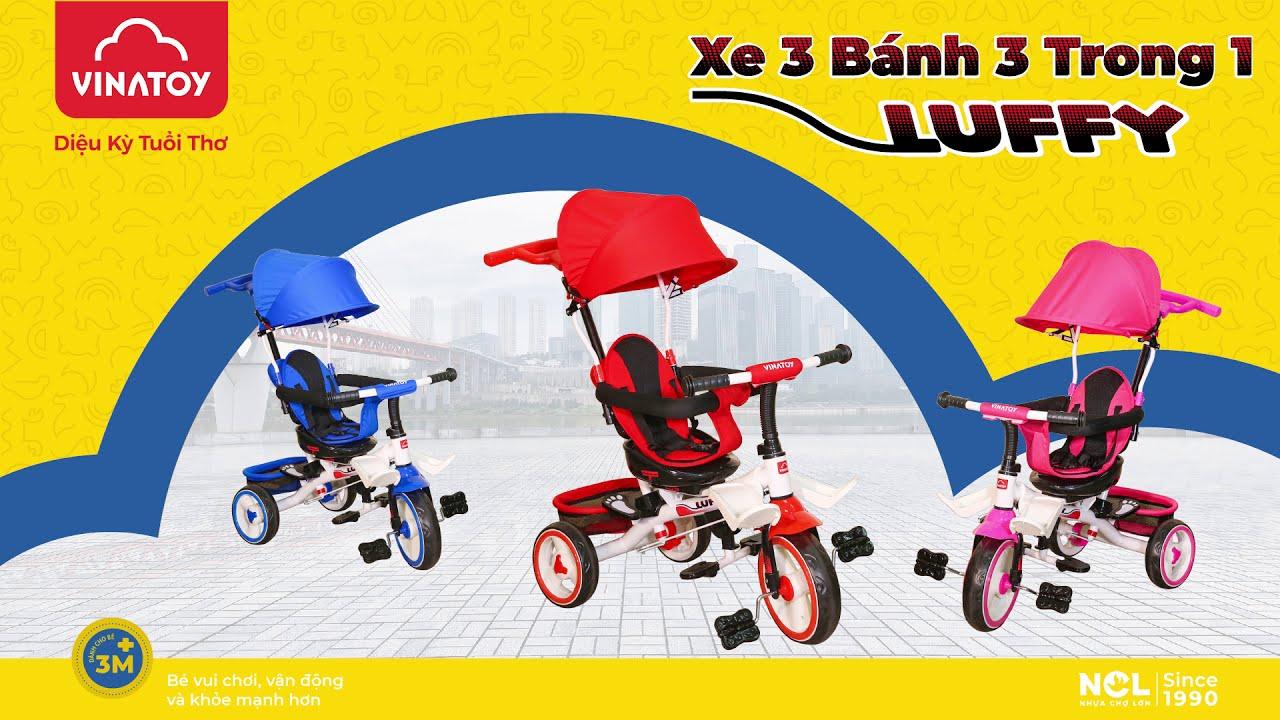 Giới Thiệu Xe 3 Bánh L11 - 3 Trong 1 Luffy Vinatoy Cho Bé Từ 1 - 4 Tuổi | NHỰA CHỢ LỚN