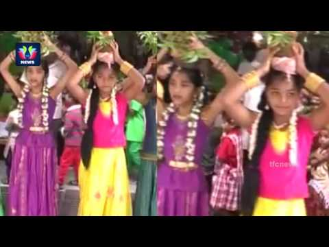 Bonalu Festival | Kids Performing Bonalu Dance In A Private School | Krishnanagar | TFC News