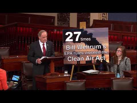 Senator Carper on Bill Wehrum's work to undermine the Mercury and Air Toxics Rule