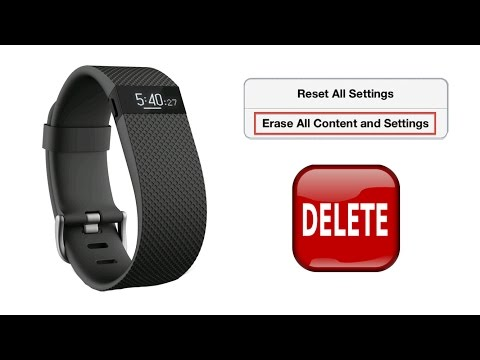 How to Reset, Delete, Resetting the Clock, and Restoring to Factory Settings for Fitbit Charge HR
