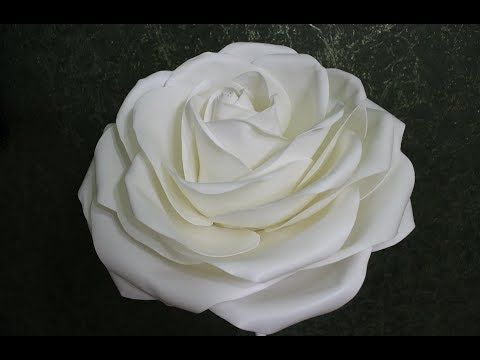 Роза диаметром 55 см из изолона 1мм/ Free master class. Rose from isolone
