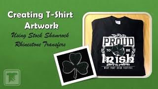 كيفية إنشاء T-Shirt الفني باستخدام الأسهم Rhinstone النفل التحويلات