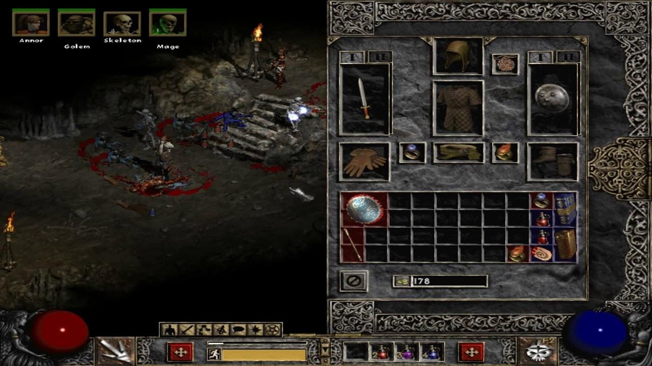Diablo 2 LoD (1.14d) over glide wrapper - YouTube