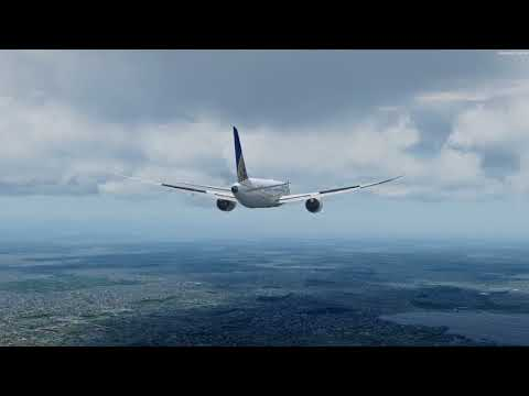 P3D v4 1 - Qualitywings 787-8 arriving at KDEN