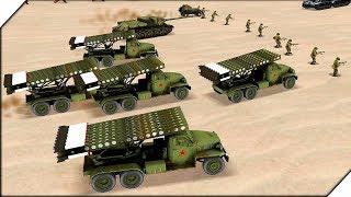 НАПАДЕНИЕ КАТЮШ С РАКЕТАМИ СИМУЛЯТОР Второй Мировой Войны WW2 Battle Simulator # 11 Стратегии 2018