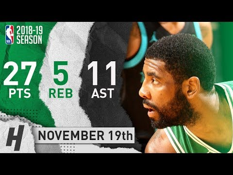 Kyrie Irving Full Highlights Celtics vs Hornets 2018.11.19 - 27 Pts, 11 Ast, 5 Rebounds!
