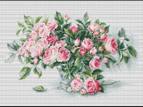 Вышивка крестом лука-с розы
