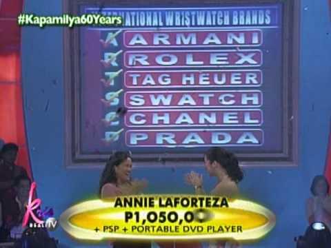 ABS-CBN KAPAMILYA 60 YEARS : Game Show Winners