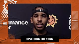 Chris Paul explains why he chose the Suns and talks Devin Booker's talent | NBA on ESPN