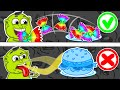 Lion Family 🍔 Journey to the Center of the Earth #67. Rainbow Meals | Cartoon for Kids