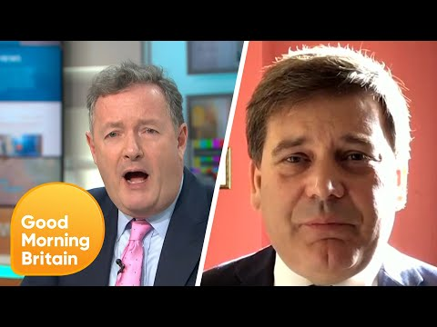 Piers Clashes with Andrew Bridgen over Boris Johnson's Lockdown Exit Plan | Good Morning Britain