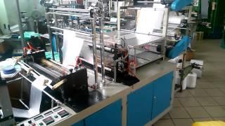 Станок для производства пакетов в рулоне(Увеличили производительность. Выход готовой продукции составляет 130000-140000 за 8 часов рабочего времени., 2014-02-22T15:38:42.000Z)