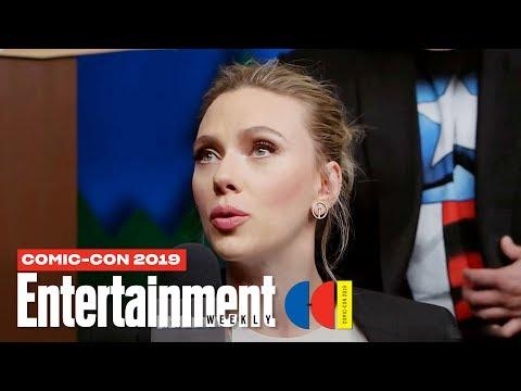 \'Black Widow\' Stars Scarlett Johansson, David Harbour & Cast LIVE | SDCC 2019 | Entertainment Weekly