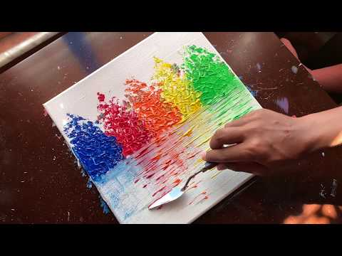 Simple Landscape| Satisfying| Abstract Painting Demonstration |Relaxing | Daily Art Therapy