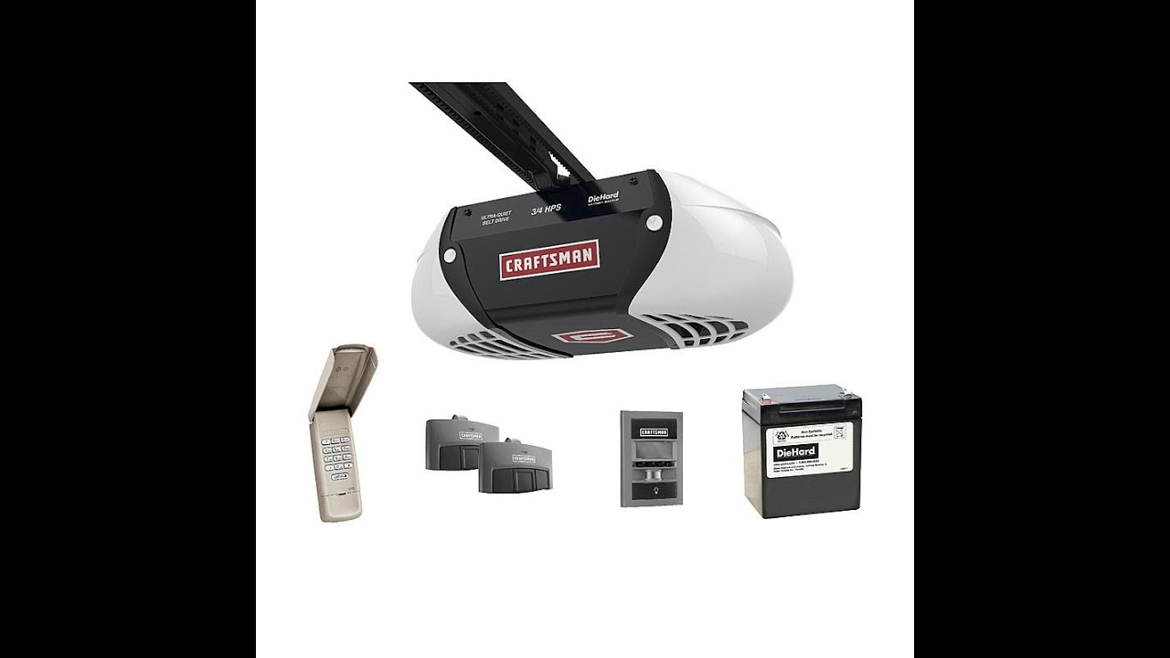 medium resolution of how to install craftsman belt drive 3 4 hp 54918 with 8 extension 53728