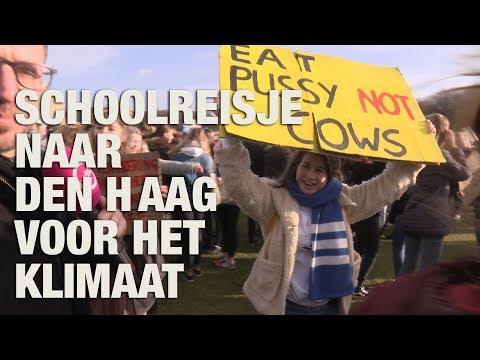 GSTV. Klimaatspijbelaars redden de wereld op demonstratie