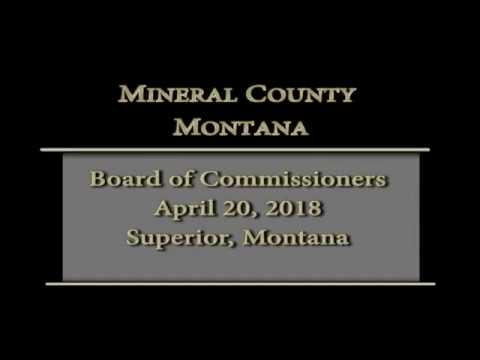 Mineral County Montana Commissioners' meeting 4-20-18.