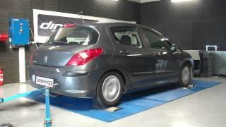 Reprogrammation Moteur Peugeot 308 1.6 hdi 90cv @ 126cv dyno Digiservices