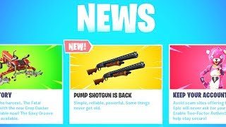 The PUMP SHOTGUN BACK in Fortnite..