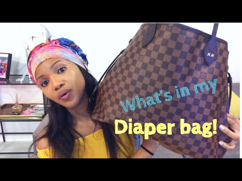 WHAT'S IN MY DIAPER BAG| LV NEVER FULL GM| MELO'S MOM South Africa