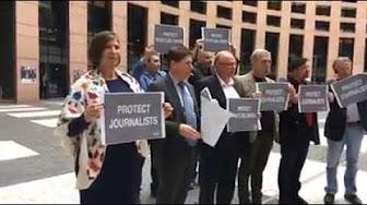 Whistleblowers Protest - EU Parliament - 24.10.2017