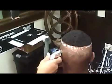 Male hair replacement with waves
