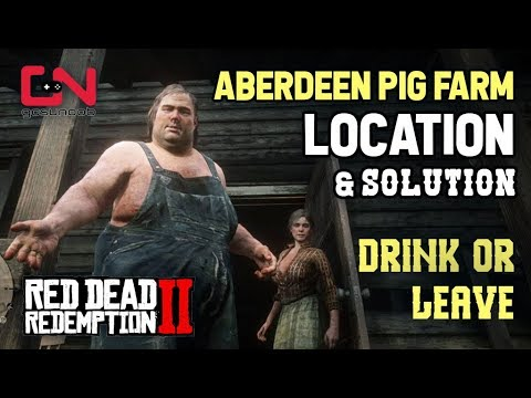 Red Dead Redemption 2 Aberdeen Pig Farm Location - Drink or