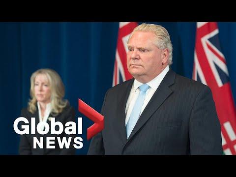 Coronavirus outbreak: Ontario Premier Doug Ford provides update on response to COVID-19 | LIVE