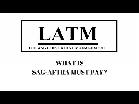 WHAT IS SAG-AFTRA MUST PAY? - YouTube