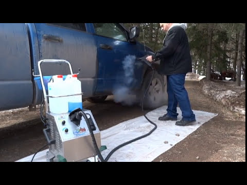 Dry CAR WASH & Auto Detailing #1 - 145 PSI Commercial Vapor Steam Cleaner Vapor Rino Rhino - YouTube