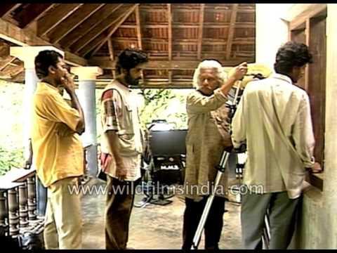Adoor Gopalakrishnan on Kathapurushan film sets  archival