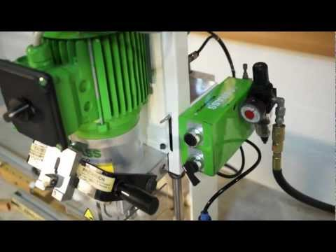 GRASS ECO PRESS P HINGE BORING & INSERTION MACHINE W/LINE BORING HEAD