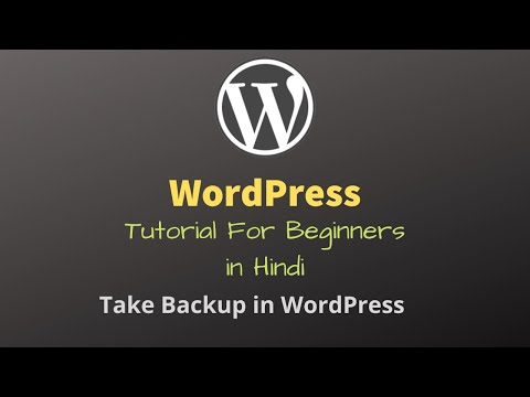 WordPress Tutorial in Hindi - 10 | For Beginners | Take Backup in WordPress thumbnail