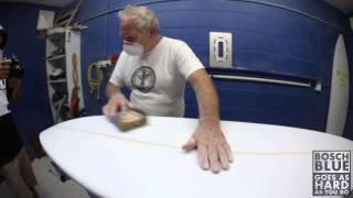 Shaping A Surfboard: Fine Tuning the Blank and Bottom Layer Glassing