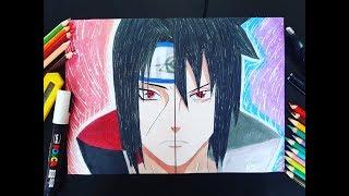 Como Desenhar Itachi Uchiha / Sasuke Uchiha ( Naruto Shippuden )