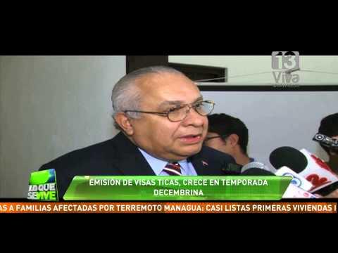 Aumenta en 20% la emisión de visas ticas en Nicaragua